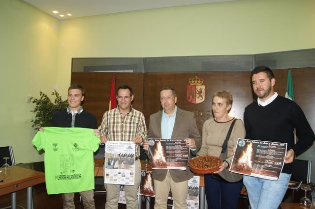 Presentación de las fiestas patronales de Alcántara (Cáceres)
