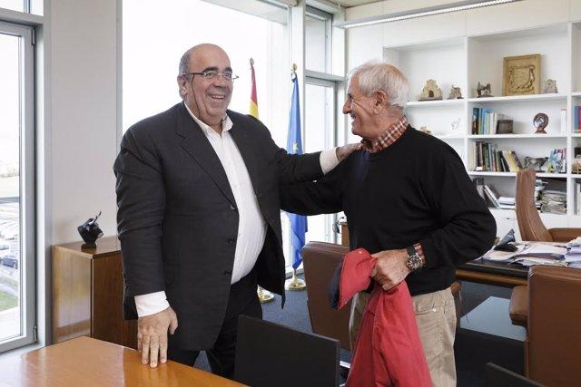 Oria con alcalde de Hererías