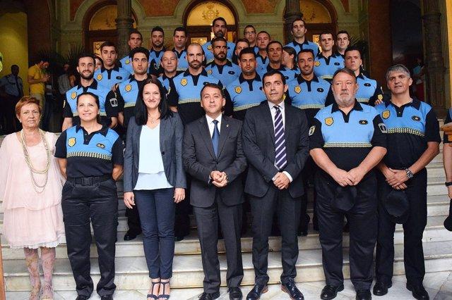 Recepción a los nuevos policías