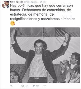 Tuit de Pablo Iglesias sobre el PSOE