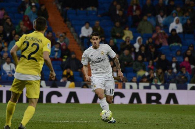 James Rodríguez en el Real Madrid - Villareal