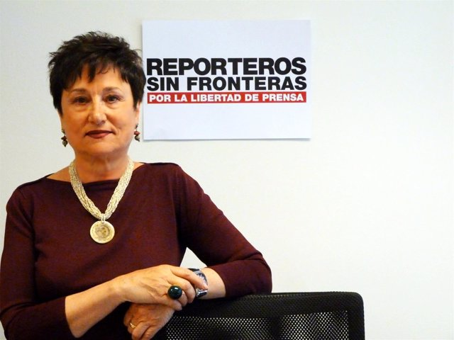 Malén Aznárez, presidenta de Reporteros Sin Fronteras España