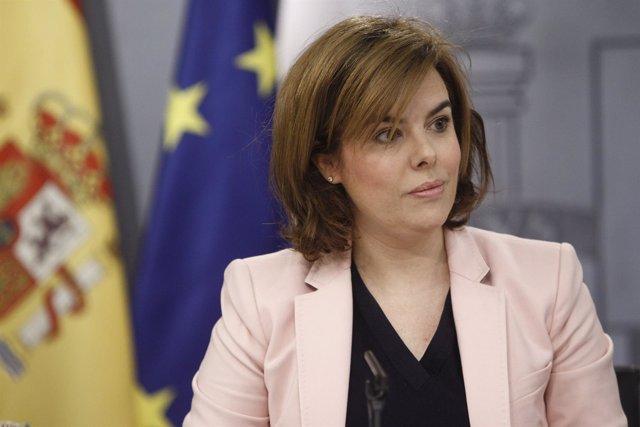 La vicepresidenta del Gobierno Soraya Sáenz de Santamaría