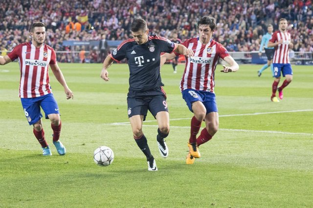 Lewandowski, Savic y Koke, Champions League, Atlético de Madrid-Bayern de Múnich