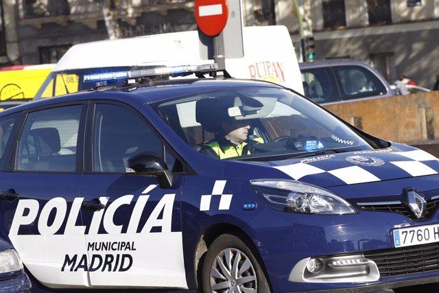 Coche de la policía municipal de Madrid