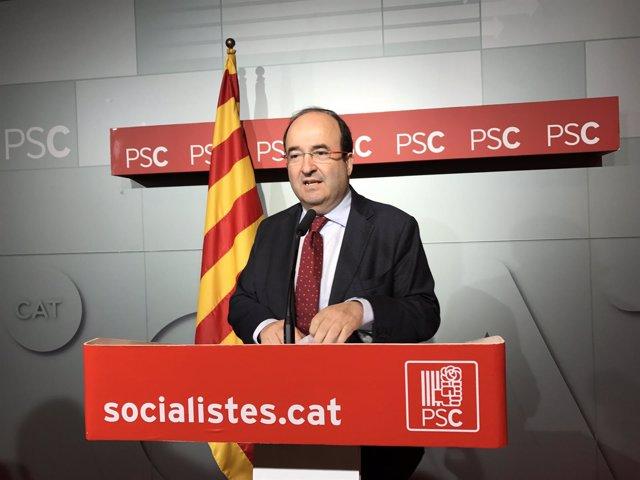 El líder del PSC, Miquel Iceta