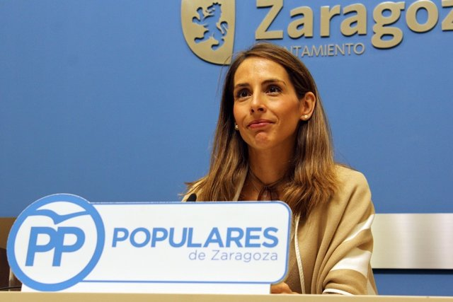 La concejal del PP en el Ayuntamiento de Zaragoza, María Navarro