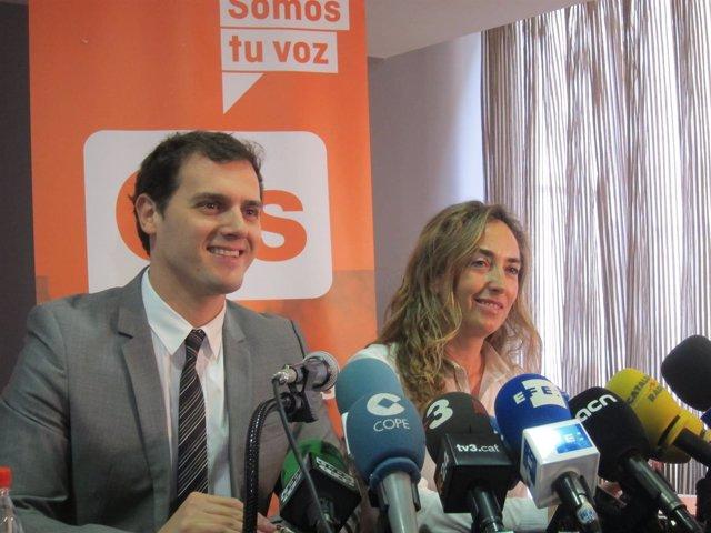 Albert Rivera y Carolina Punset.