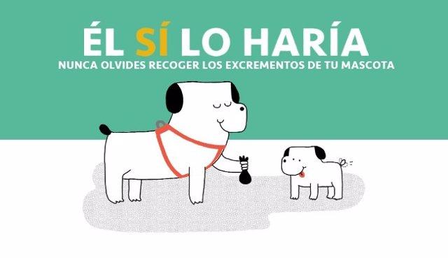 Cartel de la campaña de Mislata contra los excrementos caninos