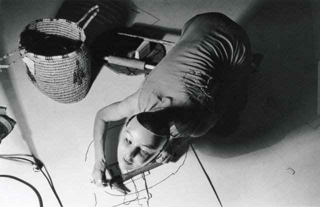 Joan Jonas, Organic Honey's Vertical Roll, Ace Gallery, Los Angeles, 1972. Photo