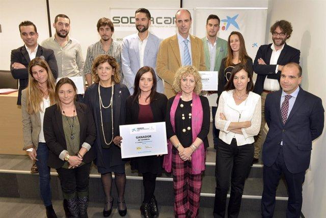 Entrega de premios en la sede de Sodercan