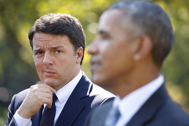 Barack Obama y el primer ministro italiano, Matteo Renzi