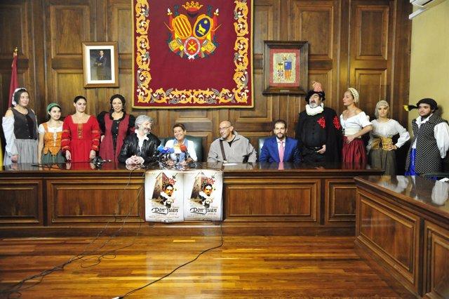 Presentación de la séptima representación del Tenorio en Teruel