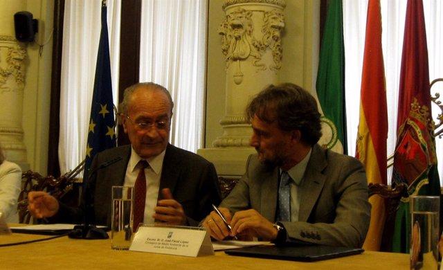 Francisco de la Torre y José Fiscal en Málaga