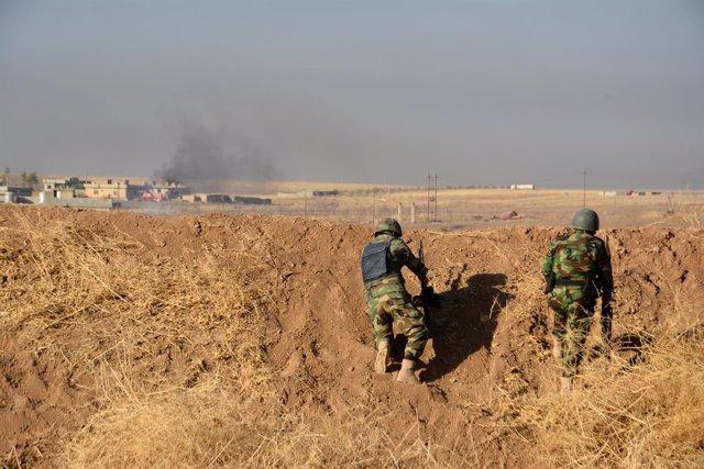 Las fuerzas peshmerga participan en la ofensiva lanzada sobre Mosul