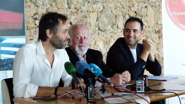 Juan Echanove, en la presentación del concierto de la Orquesta de Exremadura