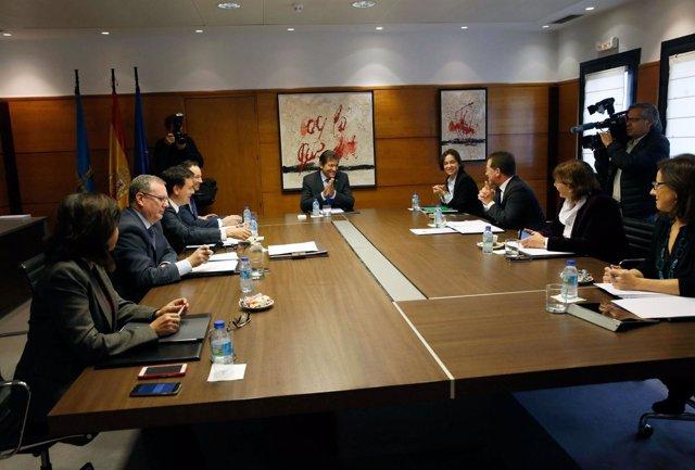 Reunión del Consejo de Gobierno del Principado de Asturias