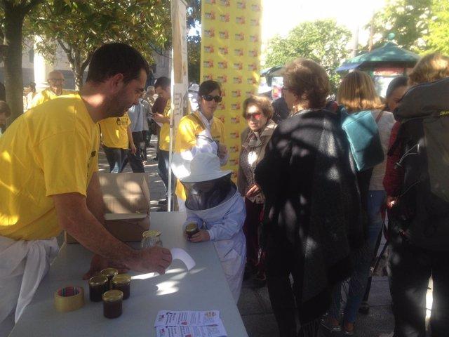 Campaña de apicultores de UGAM-COAG, concentración en Santander