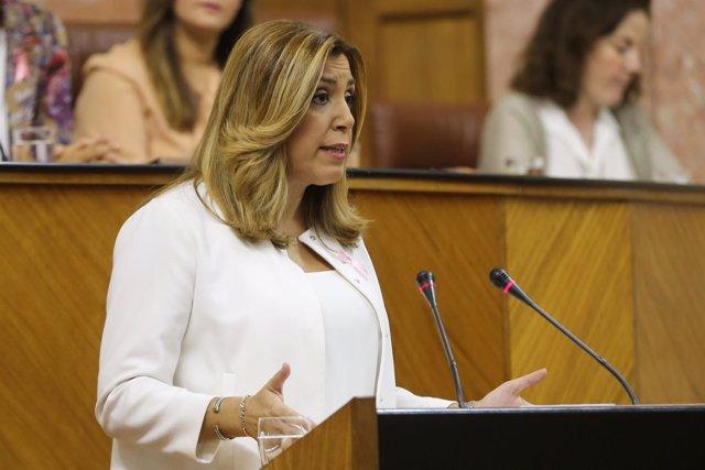 Susana Díaz, en el Debate sobre el Estado de la Comunidad en el Parlamento.