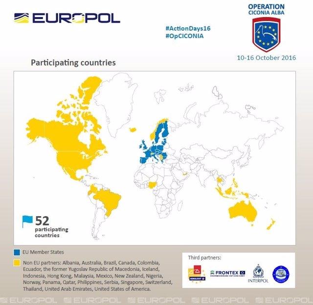 Operación 'Ciconia Alba' de Europol