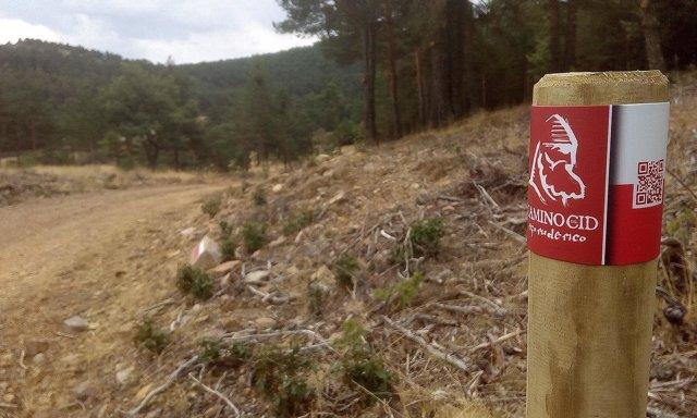Nueva señal del Camino del Cid en la Sierra de Albarracín