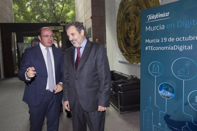 Pedro Antonio Sánchez junto a Luis Miguel Gilpérez,