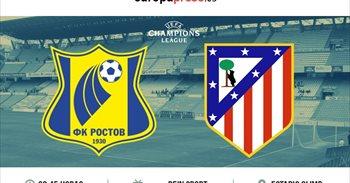 Horario y dónde ver el F.C Rostov - Atlético de Madrid