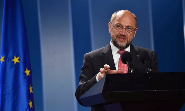 El presidente del Parlamento Europeo, Martin Schulz