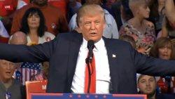 Trump no diu si acceptarà els resultats de les eleccions durant l'últim debat amb Clinton (EUROPAPRESS)