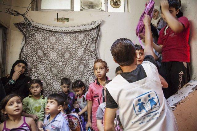 Actuación de Aldeas Infantiles SOS en Siria