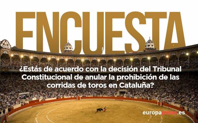 Encuesta sobre las corridas de toros en Cataluña