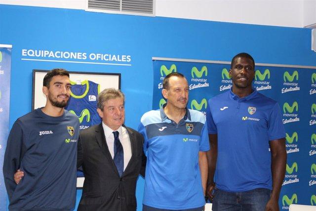 Jaime Fernández, Fernando Galindo, Salva Maldonado y Sitapha Savané
