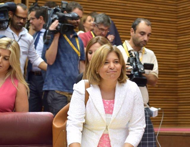 Isabel Bonig en las Corts Valencianes en imagen de archivo