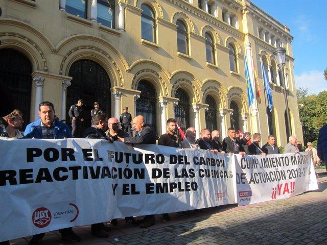 Movilización en defensa del carbón.