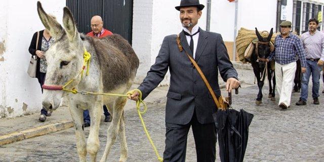 Platero y Juan Ramón escenifican una vendimia