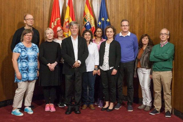 El alcalde con representantes del Ayuntamiento sueco de Avesta