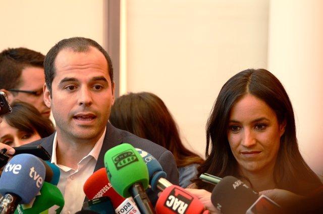 Ignacio Aguado y Begoña Villacís