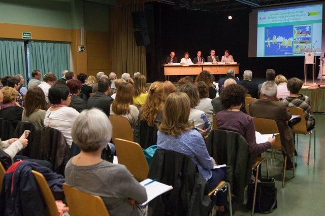 Broto en la reunión del Imserso en Zaragoza