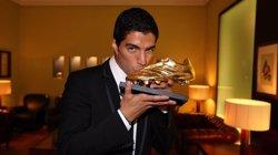 Luis Suárez rep la Bota d'Or: