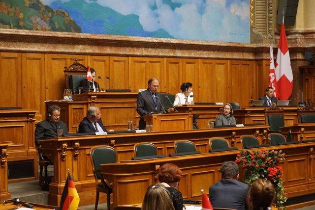 Pío García-Escudero interviene ante la Asociación de Senados Europeos
