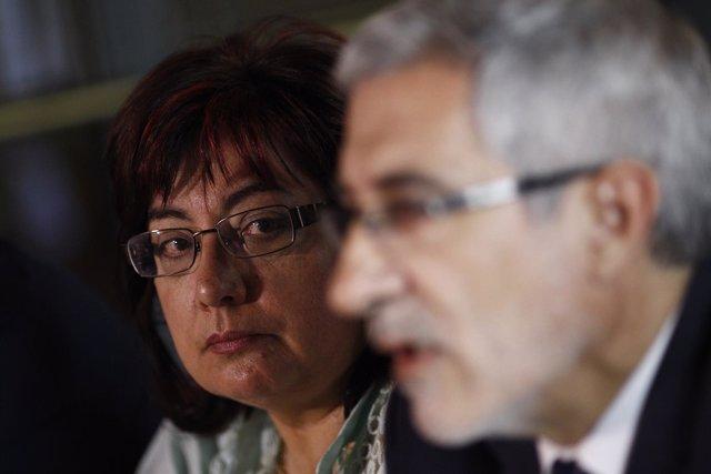Gaspar Llamazares y Montse Muñoz.