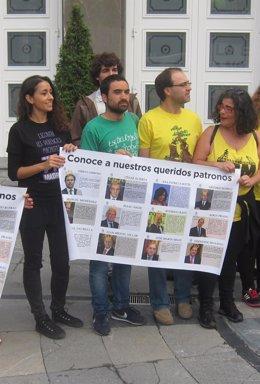 Villegas, camiseta verde, en la presentación de la protesta de los Princesa 2016