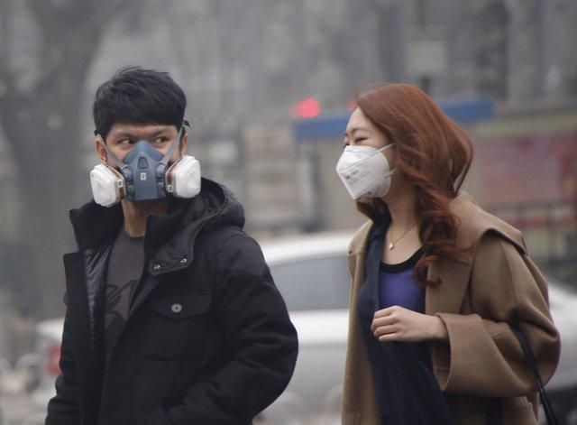 Polución, contaminación en Pekín (China)