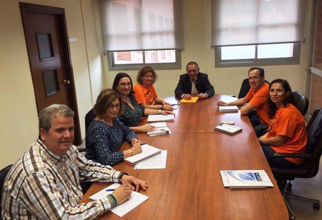 Reunión entre Educación, Ayuntamiento de  Alaquàs y representantes del Cremona