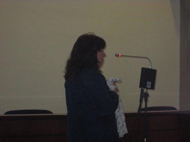 La acusada declarando en el juicio de la Audiencia de Jaén