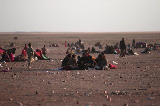 Desplazados de Mosul en la provincia siria de Hasaka