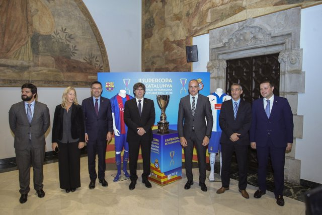 Presentación de la Supercopa de Catalunya