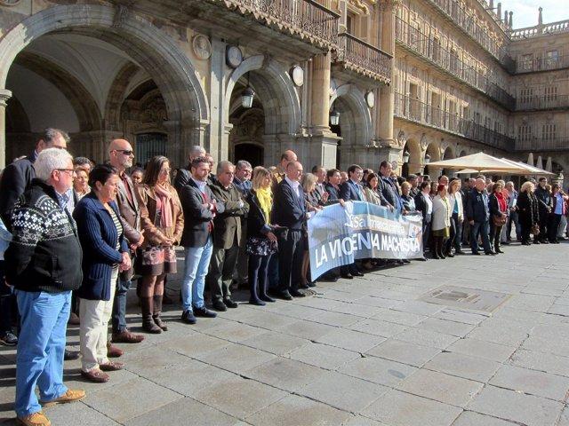 Concentración en Salamanca en contra de la violencia de género