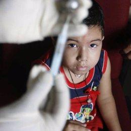 Niño enfermo de VIH