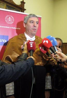 José Vicente de los Mozos en su comparecencia ante los medios